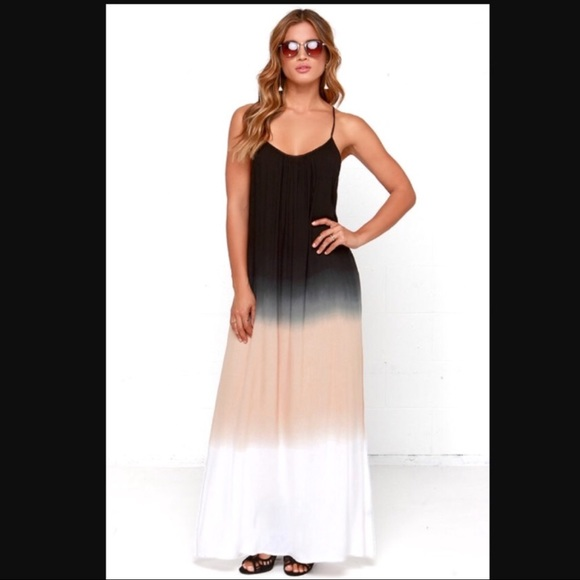 8cf46a7297 Raviya Dresses   Black Tan White Ombr Maxi Dress   Poshmark